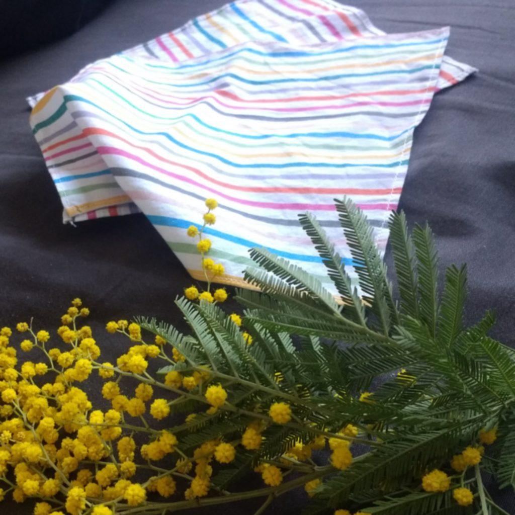 Des mouchoirs en tissu